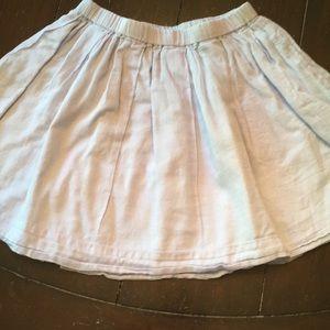 J Crew Crewcuts Blue Cotton Mini Skirt-6/7